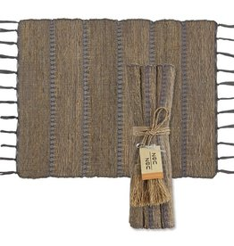 Vetiver Table Linens- Stormy Stripes