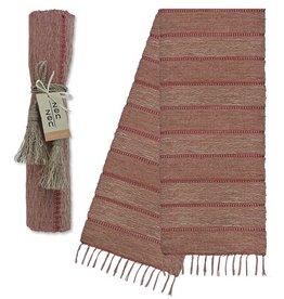 Vetiver Table Linens- Apricot Stripe