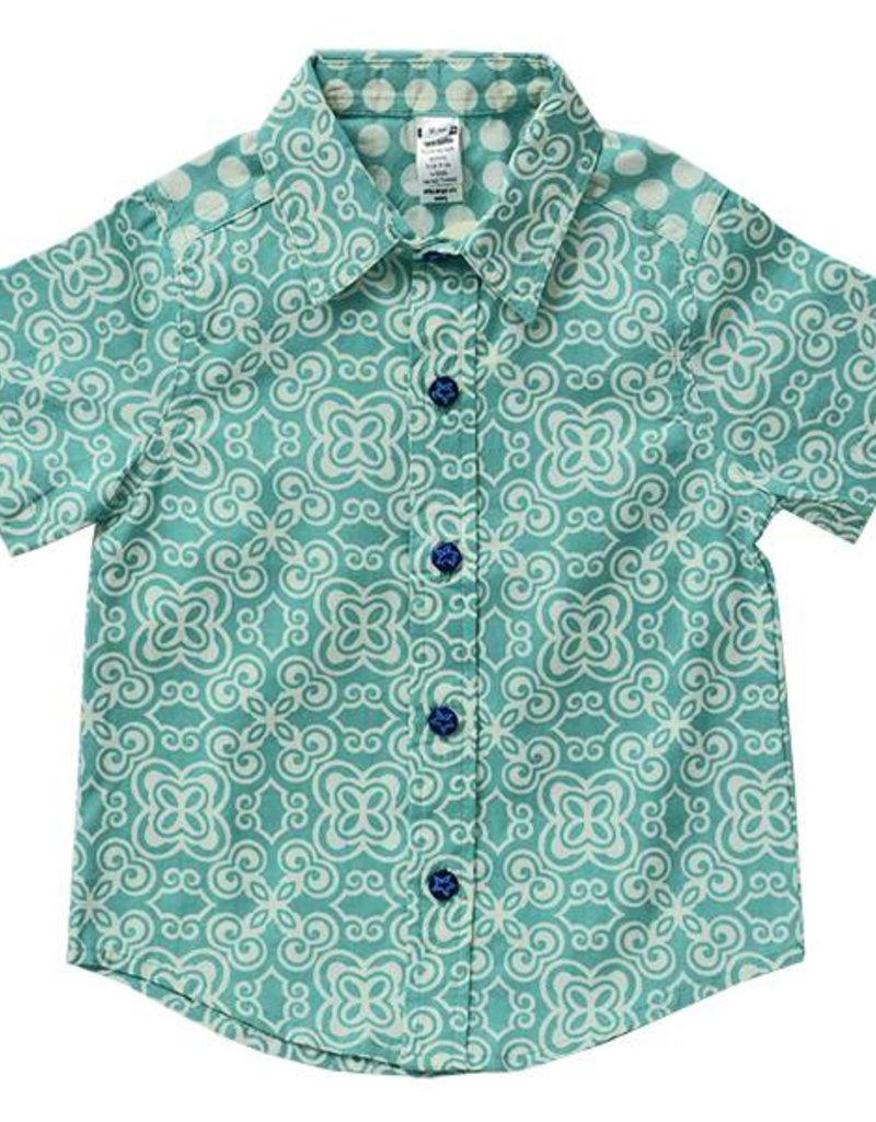 Zen Zen Scrappy Button Down Shirt