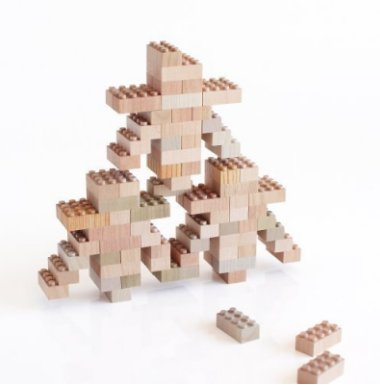 Mokulock Wooden Lego  Bricks-Set of 60