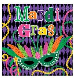 Mardi Gras Masks Beverage Napkins 16 pack Mardi Gras Paper Plates and Napkins