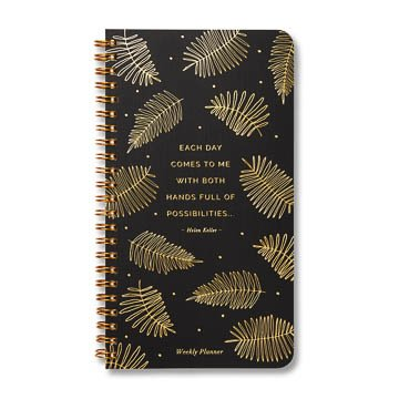 Fleurish Home Each Day Comes to Me Undated Spiral Planner