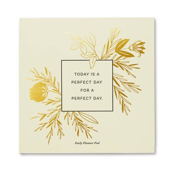 Fleurish Home Today is a Perfect Day Planner Pad