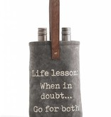 Life Lessons Double Wine Bag