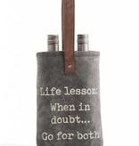 Mona B Life Lessons Double Wine Bag