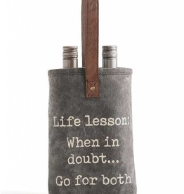 Mona B Life Lessons Double Wine Bag