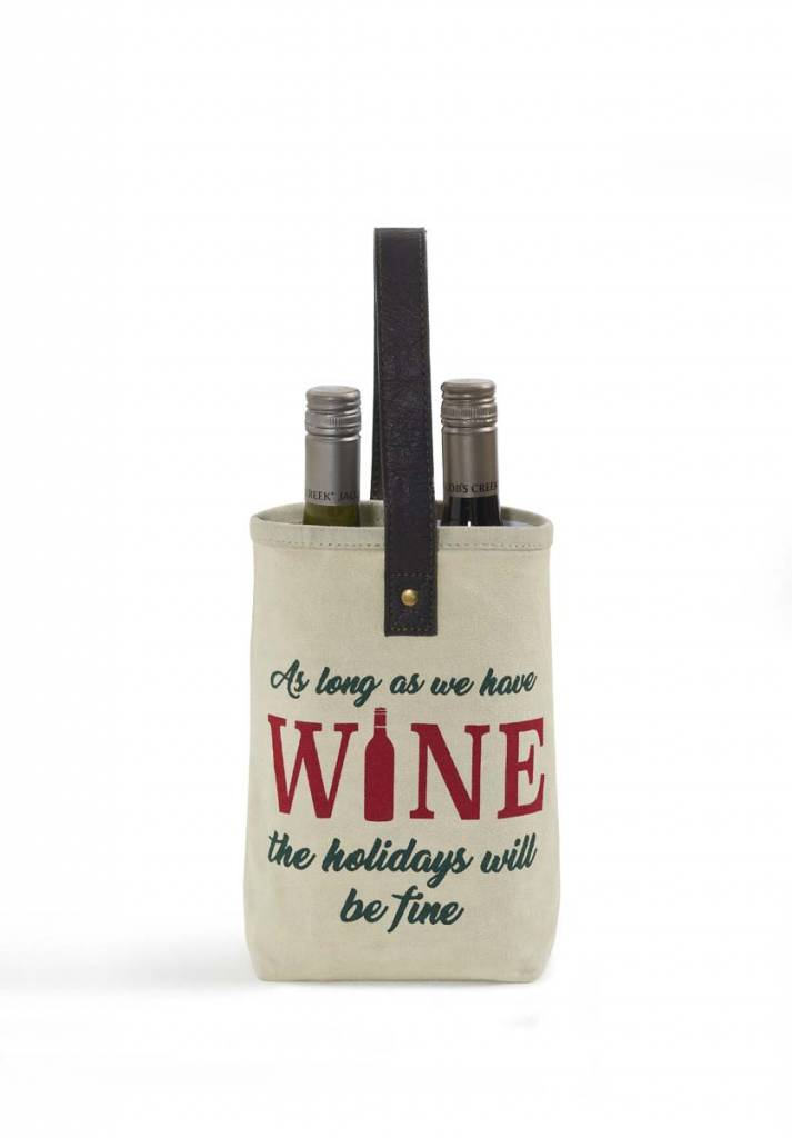 Mona B Christmas Double Wine Bag