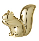 Fleurish Home Gold Plated Porcelain Squirrel