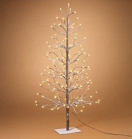 Fleurish Home Electric Snowy Tree 4'H w 128 lights