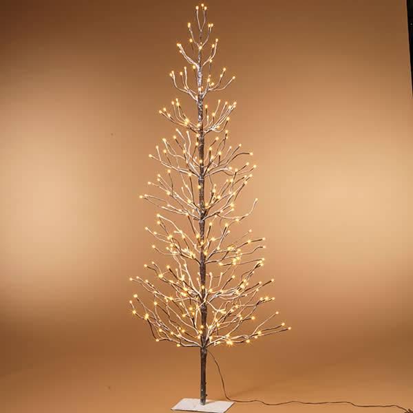 Fleurish Home Electric Snowy Tree 6'H w 296 lights