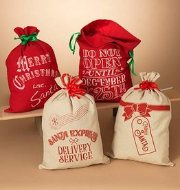 Fleurish Home Santa's Holiday Burlap Sack (choice of 4 styles)