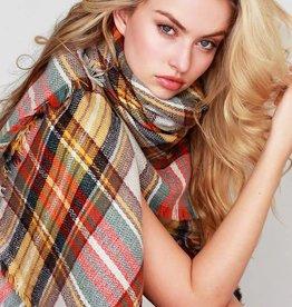 Fleurish Home Classic Plaid Blanket Scarf
