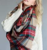 Classic Plaid Blanket Scarf