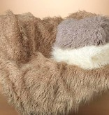 Fleurish Home Faux Curly Fur Blanket (choice of 3 colors)