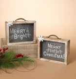 """Fleurish Home Holiday Wood Suitcase Table Decor 8"""" (choice of 2 styles)"""
