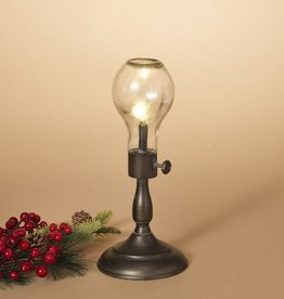 Fleurish Home Sm B/O Antique Lamp w Bulb 12""