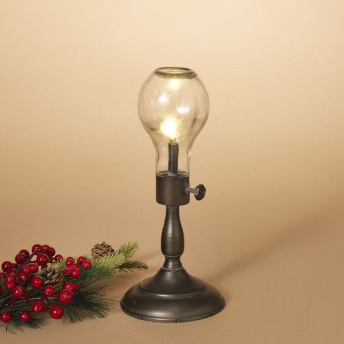 Fleurish Home Sm Antique Bulb Lamp 12""