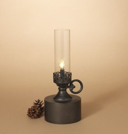 Fleurish Home Antique Candle Style B/O Metal Lantern Lamp