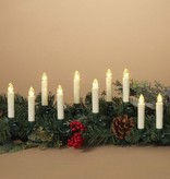 Fleurish Home Set of Set of 10 Remote Control Clip-On Candles (greenery NOT included)
