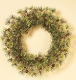 Fleurish Home Mountain Pine Wreath 24""