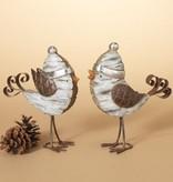 """Fleurish Home Winter Hat Birch Bird 8""""H (choice of 2 styles)"""