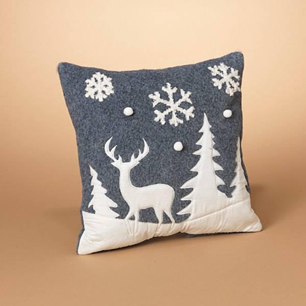 Fleurish Home Nordic Winter Scene Pillow