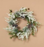 Fleurish Home Holiday Frosted Pine Wreath