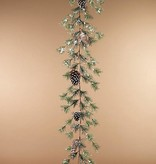 Fleurish Home Holiday Snowy Pine Garland 5'