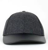 Wool & Vegan Leather Baseball Cap