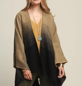 Fleurish Home Gradient Yarn Dyed Ruana Poncho