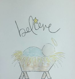 Fleurish Home Manger Believe Holiday Tee 2018