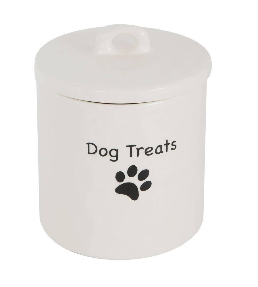Fleurish Home Dog Treats Sm Stoneware Jar w Lid