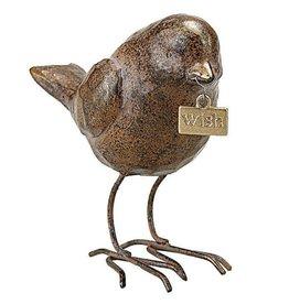 "Fleurish Home Bird w ""Wish"" Tag"