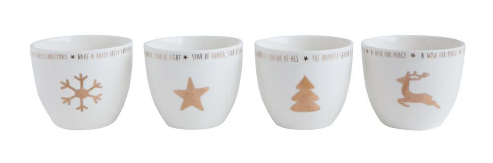 Votive Cup w Gold Electroplating (choice of 4 Styles)