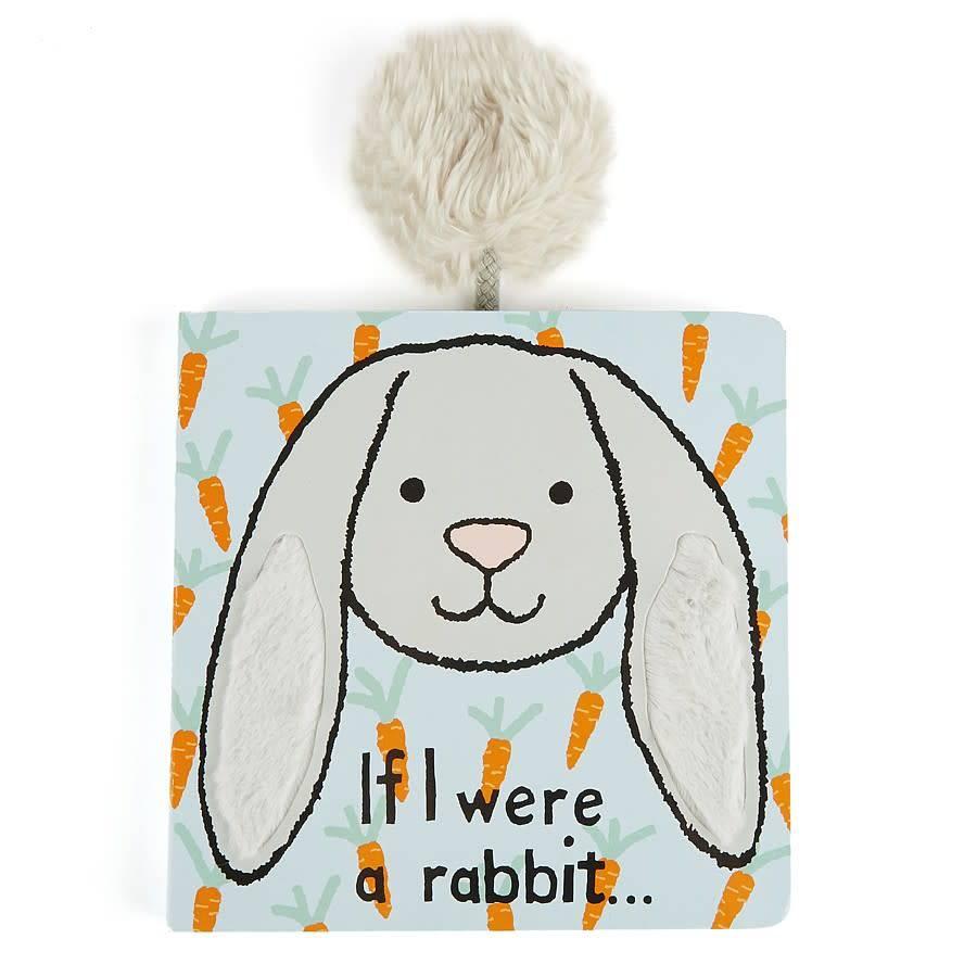 Jellycat If I Were a Rabbit Book (Grey)