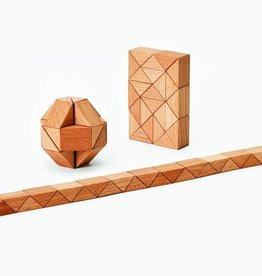 Areaware Natural Wood Snake Block