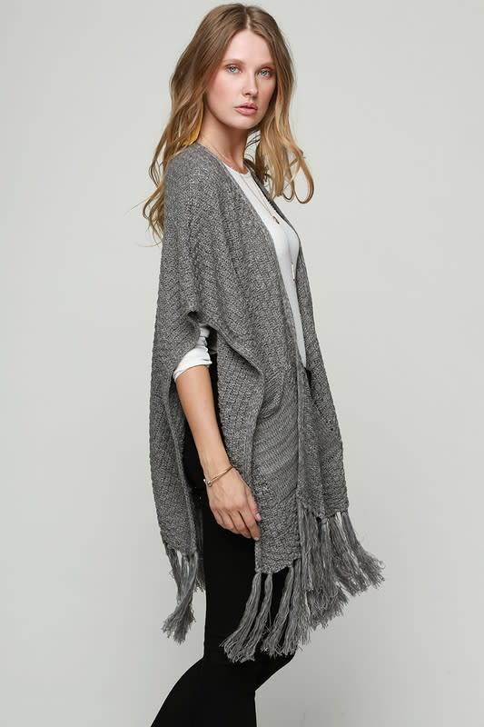 Fleurish Home Heather Knit Kimono w Pockets