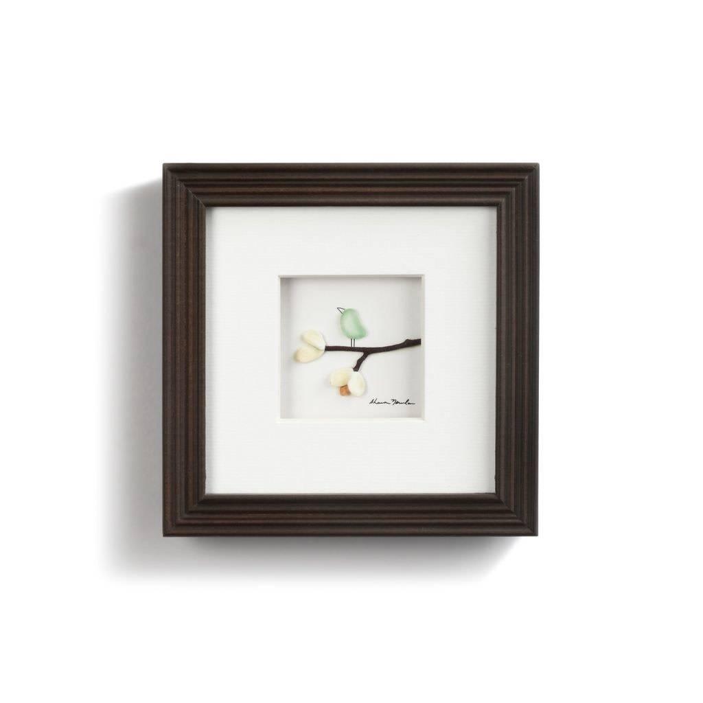 "Sharon Nowlan Serenity Pebble Art 6"" Square"