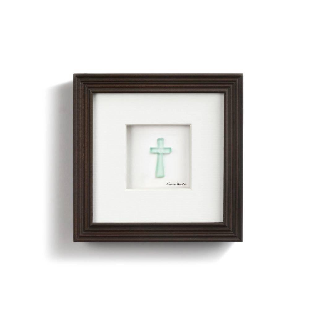 "Sharon Nowlan Cross Pebble Art 6"" Square"