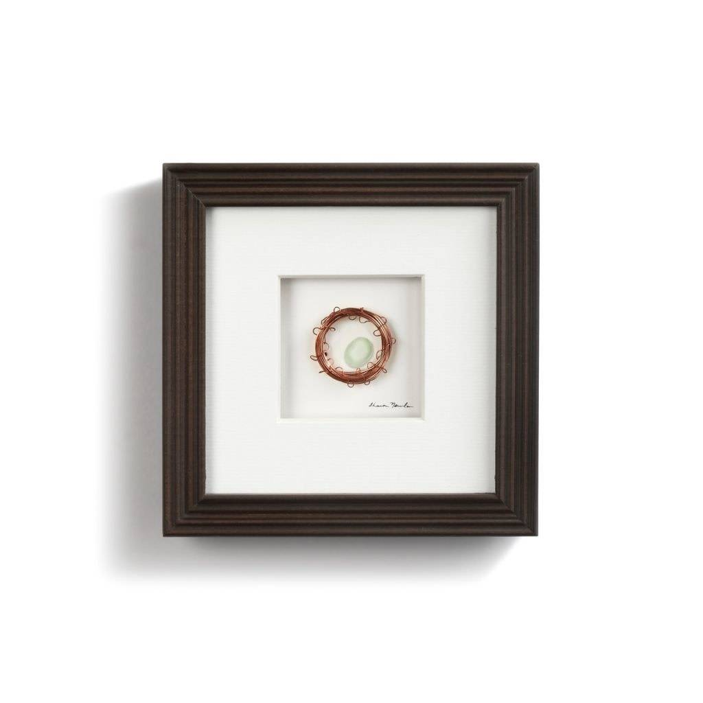 """One In The Nest Pebble Art 6"""" Square"""
