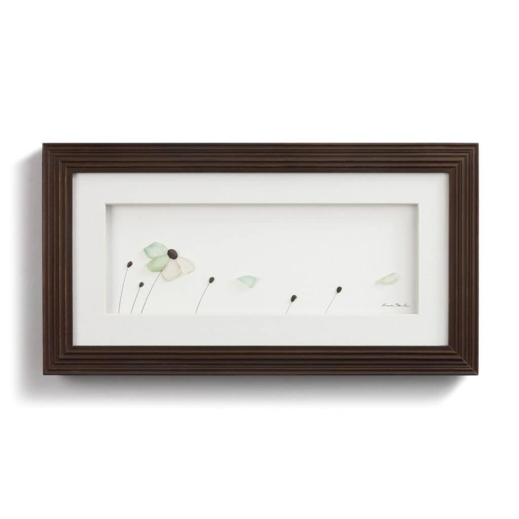 Sharon Nowlan Petals In The Wind Pebble Art 15x8