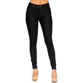 Fleurish Home Black Denim Jeggings