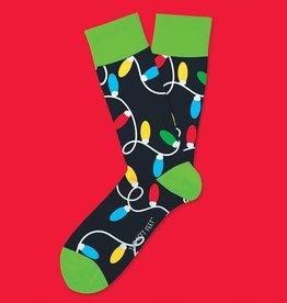 Two Left Feet Lotsa Lights Men's Christmas Socks
