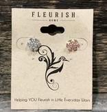 Fleurish Home Mini Silver Snowflake Stud Earrings