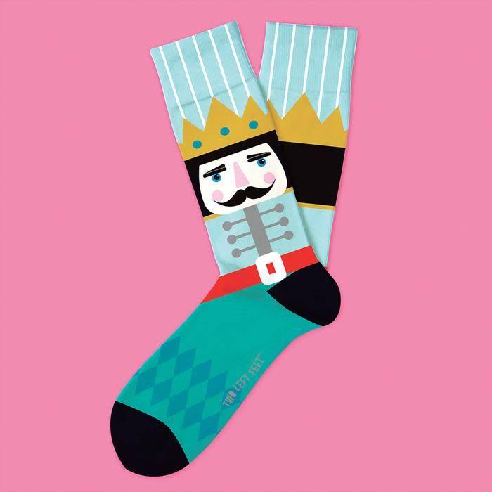 Two Left Feet Nutcracker Men's Christmas Socks