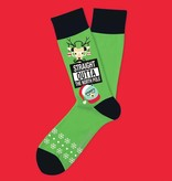 Two Left Feet Straight Outta the North Pole Men's Christmas Socks