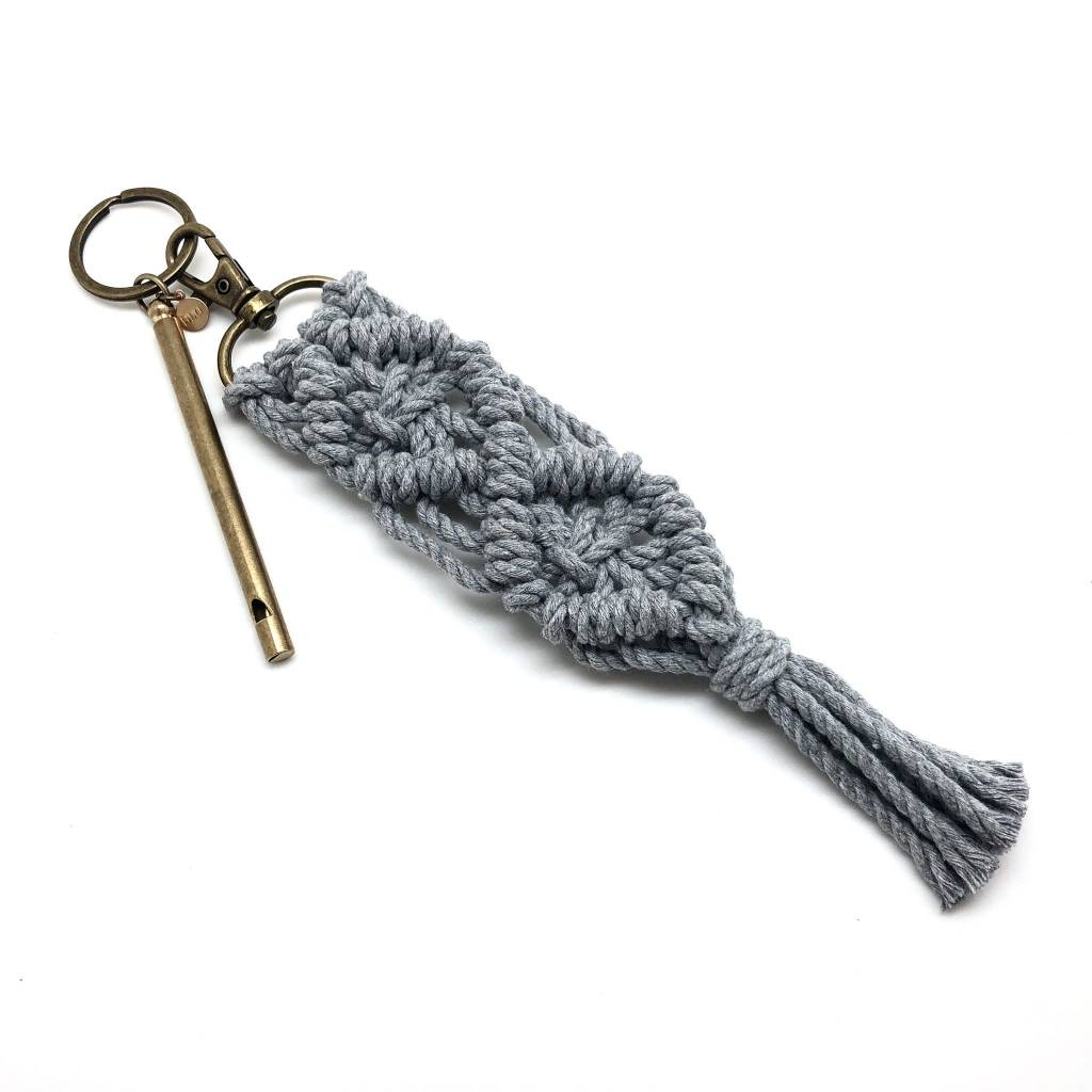 Macrame Whistle Key Chain