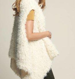 Fleurish Home Cream Faux Fur Vest