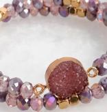 Fleurish Home Purple Druzy Bracelet