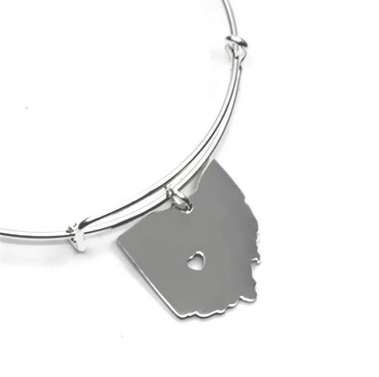 Fleurish Home State of Ohio Charm Bracelet